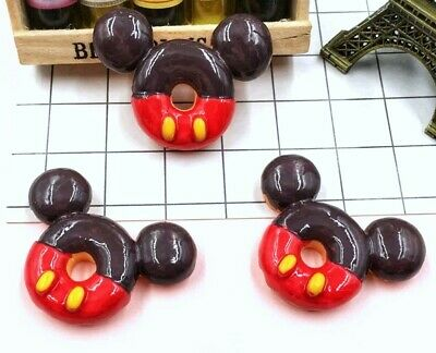 5PC Mickey Mouse Doughnut Embellishments Gift Wrap Bows Crafts Cupcake Toppers ](Mickey Mouse Gift Wrap)