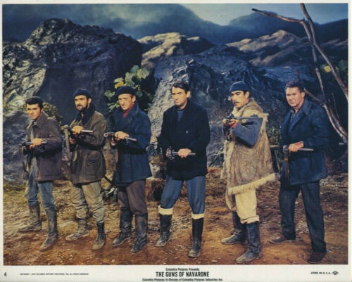 GUNS OF NAVARONE (R1974) Original 8x10 Color Set - Gregory Peck