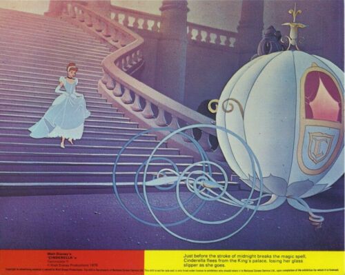 CINDERELLA (R1976) Original 8x10 Color Set - DISNEY ANIMATED CLASSIC
