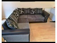 💯Best Quality SHANON Sofa 🛋 FAST DELIVERY 🚚 Gray or Black Crushed Velvet corner or 3 or 2 seater