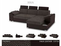 Sofa BERLIN, SOFA BED, MODERN CORNER SOFA BED, LIVING ROOM SEATER, FAST DELIVERY