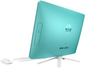 """HP All-in-One Computer 20"""" LED Display Intel 2.46GHz 4GB 500GB Windows 10 - TEAL"""