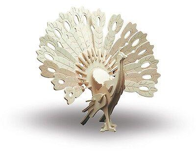 Holzbausatz Tiere Pfau - 3D Puzzle Modellbau aus Holz - Holzmodellbau M852-1