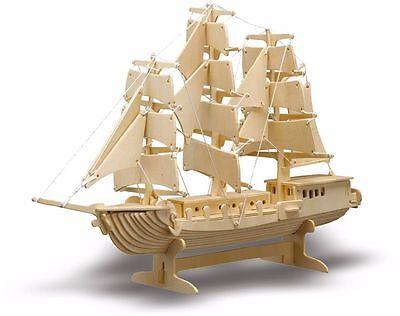 Donau Holzbausatz Schiff Boot Segelschiff 3D Puzzle Holzmodellbau M869  X