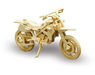 Holzbausatz Cross Motorrad Bike - 3D Puzzle Modellbau - Holzmodellbau M850-6