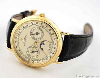 Vacheron Constantin Patrimony Triple Calendar Weeks Yellow Gold Automatic 47052