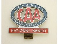 Car Badge - Canadian Automobile Assoc. - RARE. REDUCED IN PRICE.