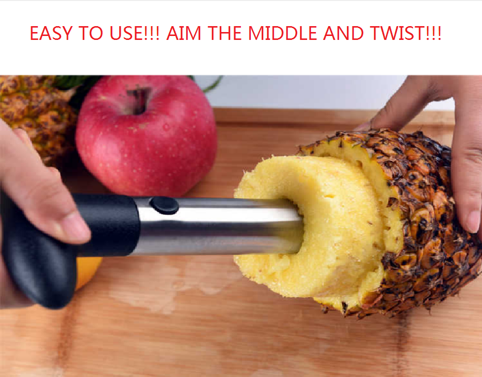 PINEAPPLE CORE CUTTER STAINLESS STEEL Kitchen Tool Slicer Pe