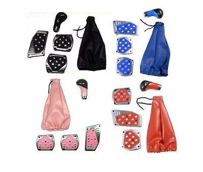 Car Accessories Pedal Gear Stick Knob Gaiter Cover Styling Black Pink Blue etc