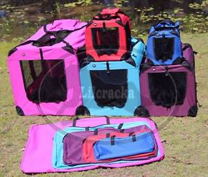 Soft/Fabric Collapsible Pet/Dog/Cat Crate/Cage Greenbank Logan Area Preview