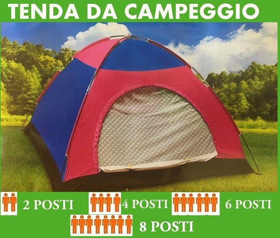 TENDA CAMPEGGIO CANADESE 2 4 6 8 POSTI MARE CAMPING ZANZARIERA SACCA TRASPORTO