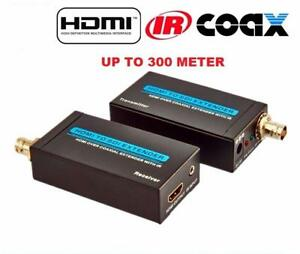 HDSDI300-IR: HDMI EXTENDER OVER COAXIAL CABLE SDI UP TO 300M WITH IR