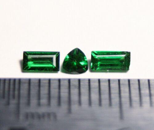 Tsavorite Garnet 0.42ct 3pc Lot Rare Genuine Natural Fine Tsavorite Tanzania