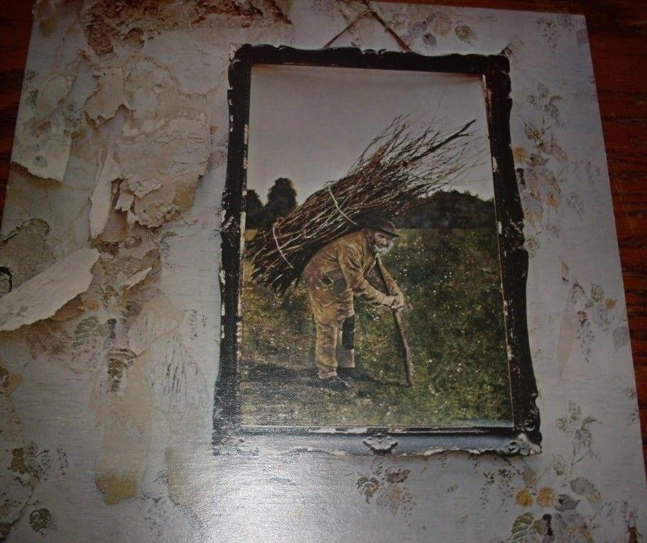 Vintage Rare Vinyl Album Lp Led Zeppelin Iv Four Symbols In Acton