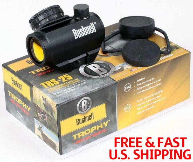 New/Bushnell Trophy TRS-25 Red Dot Sight Riflescope,Matte Black 1x25mm,USA