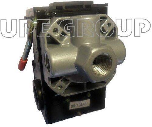 Pressure switch air compressor control 4x manifold 95-125 w/ on/off lever