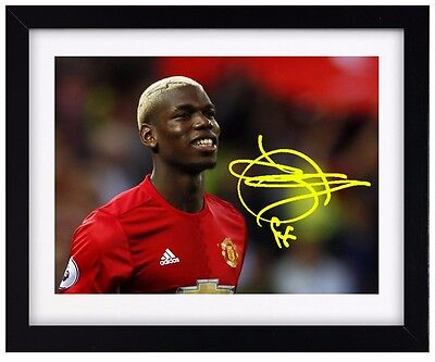 PAUL POGBA Football Signature Print - Man Utd - Signed - Framed