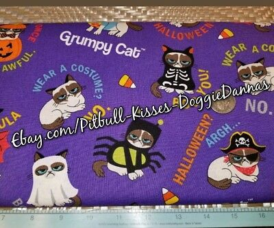 DOG BANDANA Over Collar XS-L GRUMPY CAT COSTUMES Halloween BOO YOU! Various NEW (Cat Costumes Halloween)