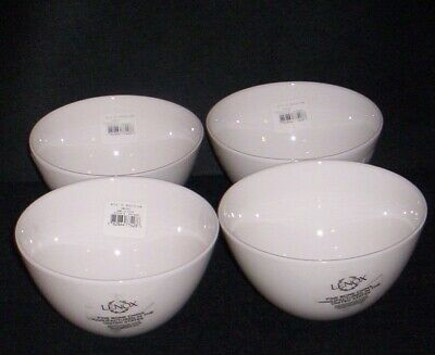 White LENOX I.D.  Initial Dinnerware ALL PURPOSE BOWL Rice Cereal NEW /TAG S/4 Dinnerware All Purpose Bowl
