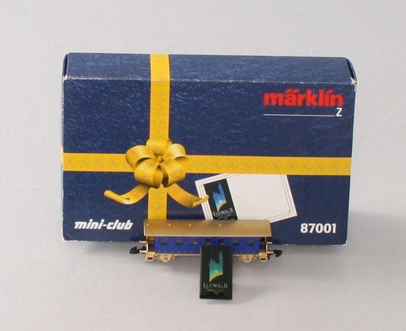 Marklin 87001 Z Scale Special Edition Ludwig II Passenger Car & Pin LN/Box