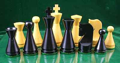 (THE MODERN - WOOD WEIGHTED CHESS PIECES - EBONIZED - 4