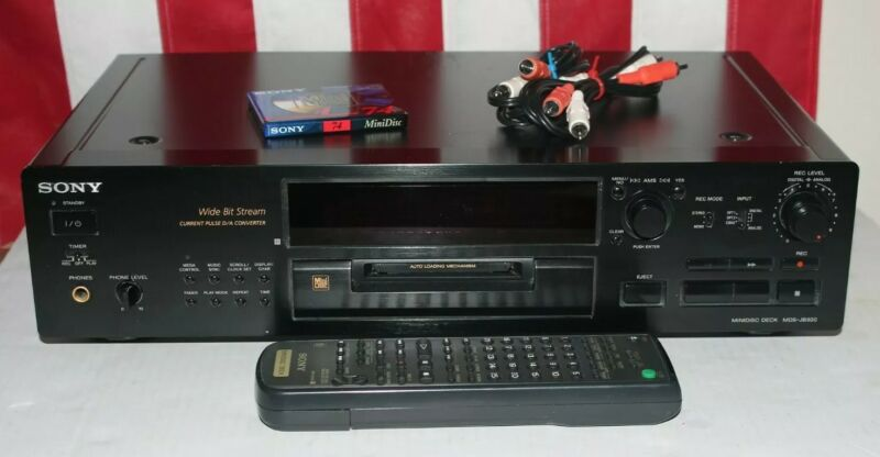 Sony MDS-JB920 MiniDisc Deck Recorder & Player Works with Remote, Cords, & Blank