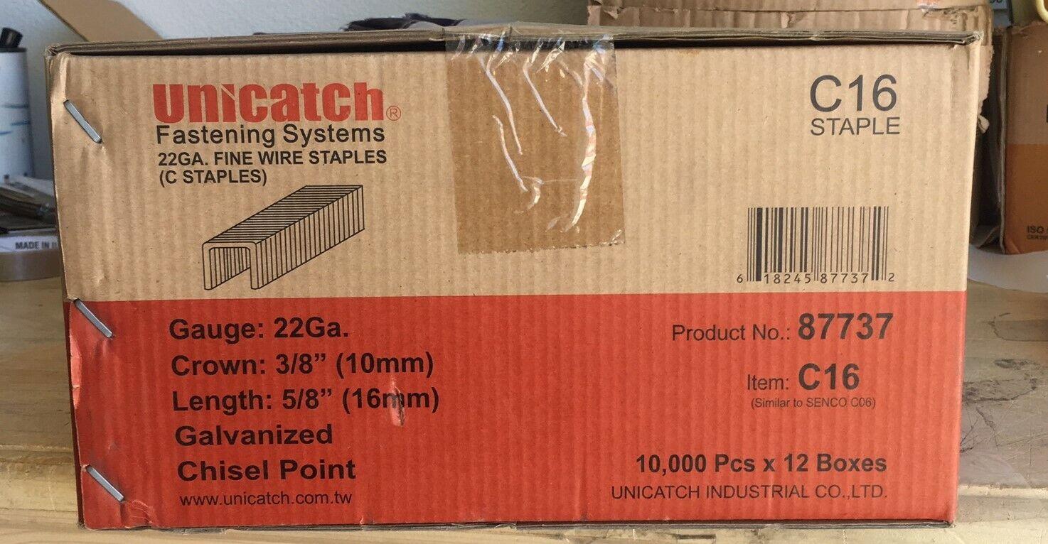 """1 Cs.-5/8"""" GALVANIZED UPHOLSTERY STAPLES 12 BOXES 10,000/BOX"""