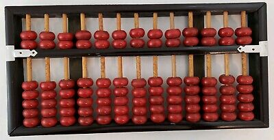Vintage Abacus Lotus Flower Brand Peoples Republic of China Math Tool