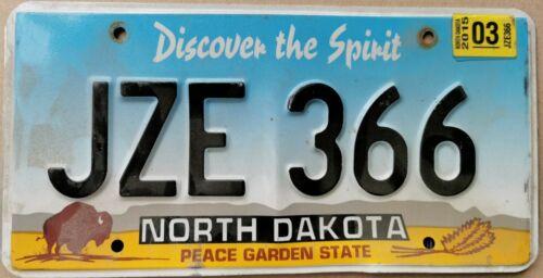 Kennzeichen License Plate United States USA North Dakota Peace Garden State