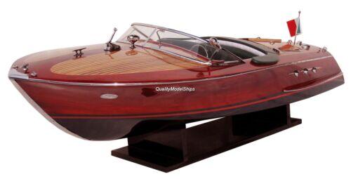 "Riva Ariston Gorgeous Handmade Wooden Model Speedboat 35"""