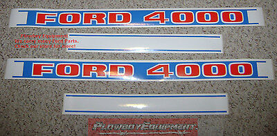 Hood Decal Setfor Ford New Holland Tractor 4000 C9nn16n682e C9nn16n683e 81822595