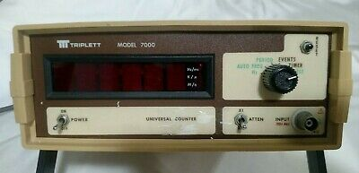 Triplett Model 7000 Universal Counter Lab Tabletop Unit College Overstock