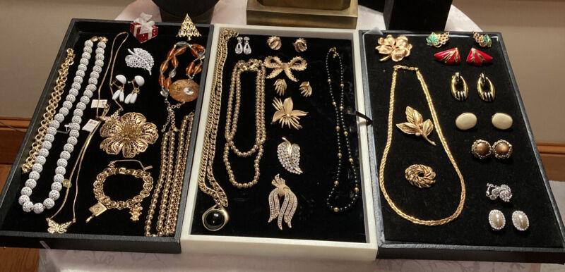 High End Vtg Napier Trifari Monet KJL BSK Jewelry Lot
