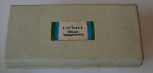 Vintage Chrome Dymo 1550 Label Maker Embosser Deluxe TapeWriter Kit SEE PICTURES