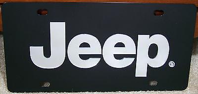 Jeep Mirror Letters Black Stainless Steel Vanity License Plate Tag