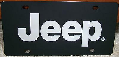 Jeep Mirror Letters Black Stainless Steel Vanity License Plate Tag