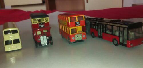 4 autobus giocattolo double decker + snodato City BUS