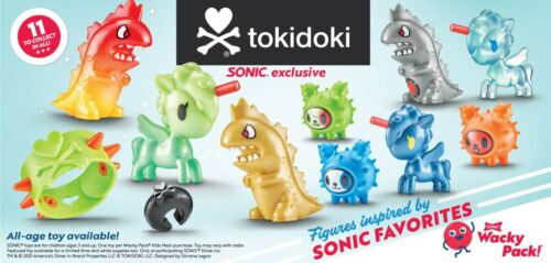 SONIC WACKY PACK TOKIDOKI TOYS! PICK YOUR FAVORITES!  $3.75 FLAT RATE SHIPPING!