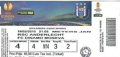 Ticket: Anderlecht - FC Dinamo Moscou Moskva UEFA Europa League (19-02-15)