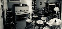 Offering in-home or in-studio drum lessons