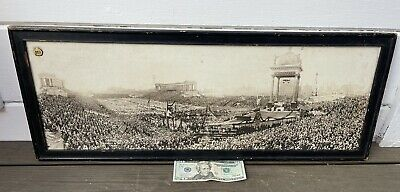 Antique Soldier Field Chicago Cardinal Bonzano Panoramic Photo