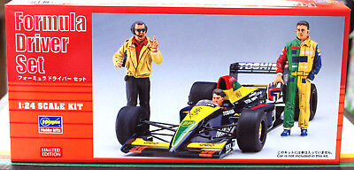 20341 Hasegawa Formula Driver Set Sportwagen Mechaniker Rennfarer Boxenstop 1:24