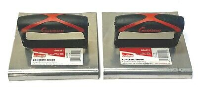 Goldblatt 6 X 6 Concrete Edger 12 Lip 58 Radius Stainless Steel 2 Pack