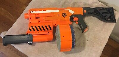 NERF N-Strike Elite Demolisher 2 in 1 Blaster Automatic Fire +35 Round Drum Clip