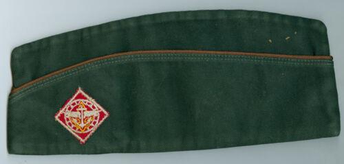 EXCELLNT 1950s Vintage Official Boy Scout Dk Green Explorer Field HAT - SIZE LG