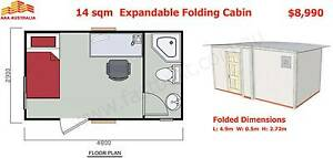 14sqm,  Expandable, Folding Granny Flat Cabin, 1 Hour to Set Up Mount Annan Camden Area Preview
