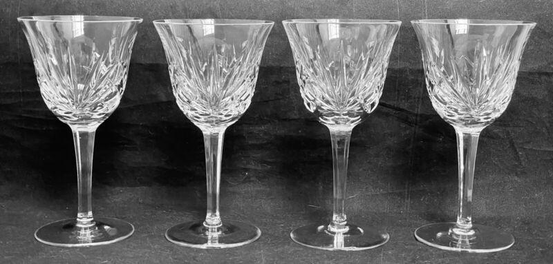 """Set of 4 Gorham Crystal  CHERRYWOOD 5 5/8"""" Wine Goblets EXCELLENT"""