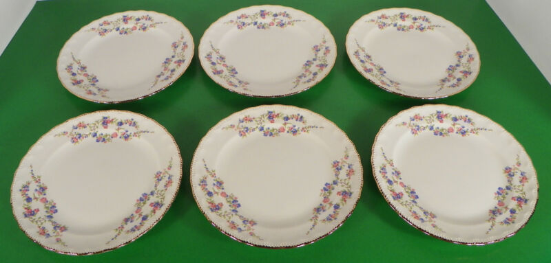 Pope Gosser BLUE BELLE Bread and Butter Side Plate (s) LOT OF 6 Made in USA