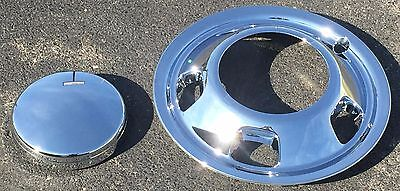 - 2003-2016 DODGE RAM 3500 Dually 1-ton FRONT Chrome Simulator & Center Cap