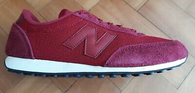 New Balance U41OVR , Burgundy, Leather Suede/Synthetic, Lace ups, Trainer, Mens